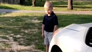 Kid Falls in Love with Car