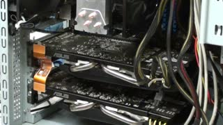 Building gaming PC part 10 Installing Videos cards and cable management - Video