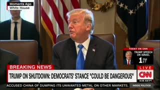 Trump Puts Possible Government Shut Down on Democrats Ahead of Immigration Battle - Video