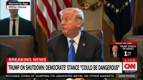Trump Puts Possible Government Shut Down on Democrats Ahead of Immigration Battle
