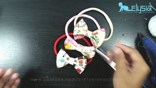 DIY headband ideas: Simple bow with printed cotton fabric - Video