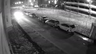 Drunk Driver Tries to Park and Rams 13 Cars - Video
