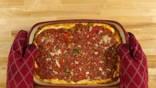 Chicago-style deep dish pizza casserole