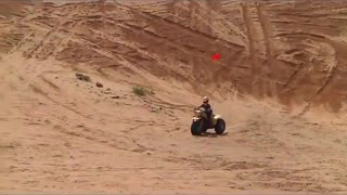 Riding 3 wheelers at Little Shara