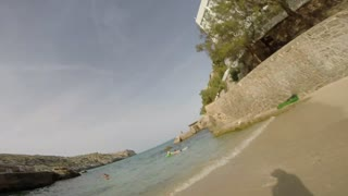 Throwing GoPro Camera into the air