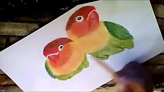 Drawing Love Birds