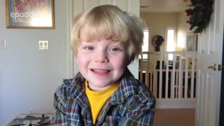 5-year-old gives his rendition of the story of Christmas - Video