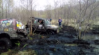 Trophy- raid Shkotovskaya carousel . Suzuki Proto in swamp - Video
