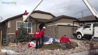 Decorated Family Program Lights Up The House Of Wounded Soldier - Video