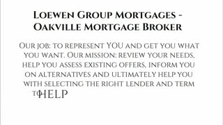 oakville mortgage brokers - Video