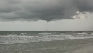 Baby water spout in Cocoa Beach, Florida - Video