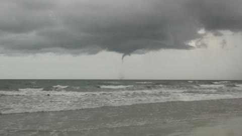 Baby water spout in Cocoa Beach, Florida