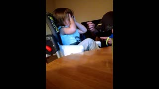 Sassy toddler facepalms dad - Video