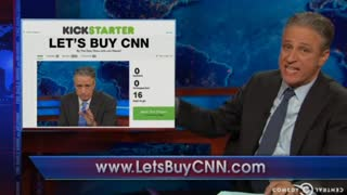 Stewart starts mock campaign to buy CNN - Video