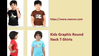Kids Funny Graphic Printed Chocolate Colour Tee Shirts - Video