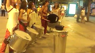 Barbarossa samba group performs for crowd - Video