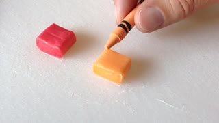Making real Starburst candy using crayons