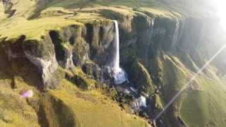 Amazing waterfall footage in Iceland, Foss a Sidu