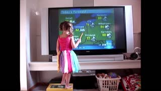 Weather girl predicts potty time