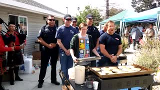 Pancake Flipping at the Nipomo Firefighters Association Annual Pancake Breakfast - Video