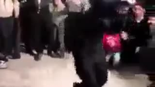 Men dance in a wedding party - Video