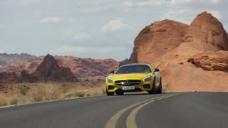 2016 Yellow Mercedes AMG GT Awesome Drive - Video
