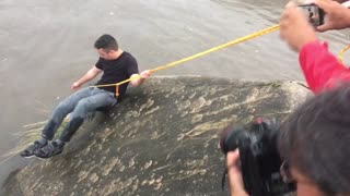 Journalist Forgoes His Story To Save Puppy From Floodwaters - Video