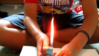 How to make a Flame thrower from a lighter - Video
