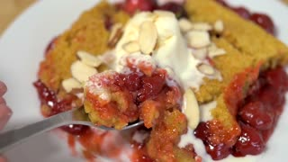 Slow-cooker cherry dump cake recipe