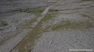 Historic Irish Famine road captured by drone