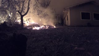 Time-Lapse of Lava Rolling Toward a House
