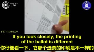 CCP underground factories falsified blank American election ballots.