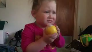 Toddler tries a lemon  - Video