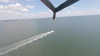 Parasailing Off the Coast of Fort Myers Beach