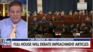 Rep. Jordan Shreds Democrats After Voting To Approve Impeachment