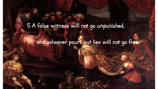 The Fate Of The False Witness - Proverbs 19:5