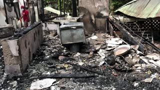 Jungle Home Destroyed by Fire - Video