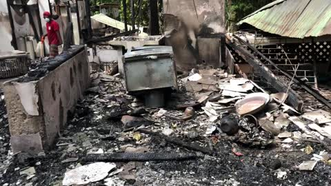Jungle Home Destroyed by Fire