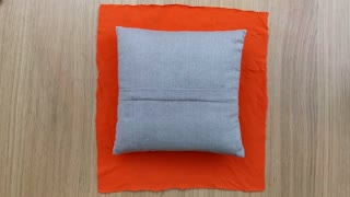 How to turn a t-shirt into a pillow cover without sewing - Video