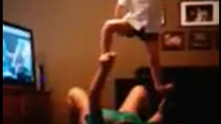 Mom's Yoga Trick With Daughter Goes Spectacularly Wrong - Video