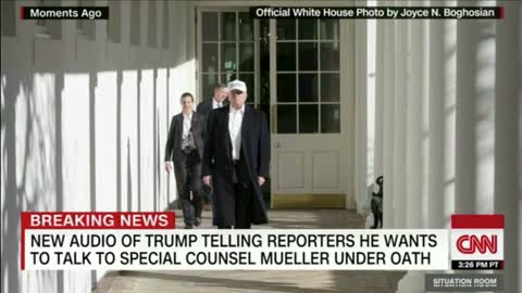 After Reporter Asks Trump if He'll 'Testify Under Oath' to Mueller He Stumps Her With Hillary Q
