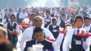 Mexico City Sets New Record For Gathering Thousands Of Chefs - Video
