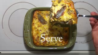 Healthy Crustless Sausage and Bacon Quiche