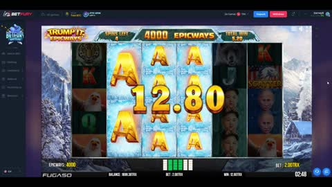 Buying Free Spins On Trumpit Slot Machine For 100 TRX