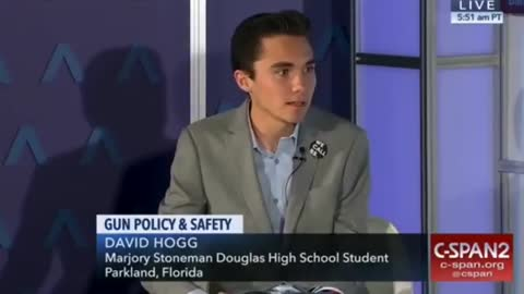 """David Hogg: Clear backpacks infringes on his """"First Amendment rights."""""""