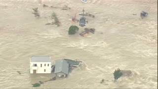 Japan floods trigger rescue operation - Video
