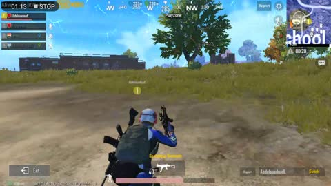 Pubg Mobile Game How much luck do u get From Zoon Like This Guy Stick Inside House and Fighting