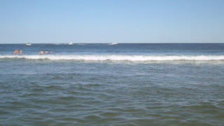 OCEAN GROVE - SUPER CLOSE WAVES VIEW (NJ New Jersey shore beach travel) - Video