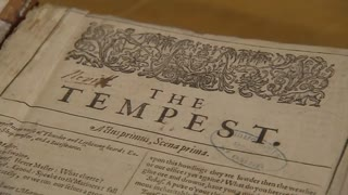 Rare First Folio arrives at Shakespeare's Globe Theatre - Video