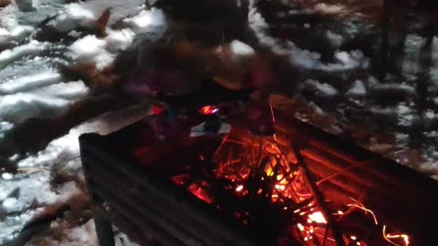 fires coals with a drone
